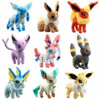 Pokemon Evolution of Eevee Umbreon Espeon Vaporeon Sylveon Plush Toys 9 Styles