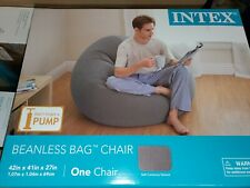 Intex Beanless Bag Inflatable Chair - Gray
