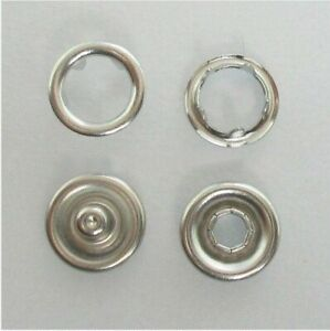METAL SNAP FASTENERS PRESS-STUDS POPPERS, Approx 9.5mm