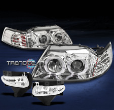 1999-2004 FORD MUSTANG HALO LED PROJECTOR CLEAR HEAD LIGHT+FOG CORNER LEFT+RIGHT