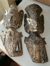 More details for asian wood carvings x 2