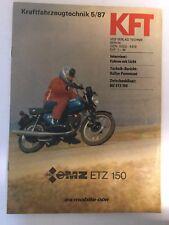 Kraftfahrzeugtechnik KFT 05/1987 MZ ETZ 150 Moped Motorrad IFA Ost Geschenk DDR