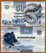 Faeroe Islands, 50 Kronur, 2011 (2012), P-29 UNC   new signature and security