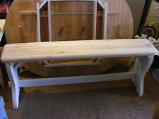 SHABBY CHIC HAND PAINTED PAINTED HANDMADE SOLID PINE BENCH - ref BA239SC