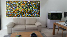 Art Painting 240cm  x 90cm Fish Canvas seascape large  aboriginal  painting