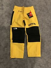 New Supreme The North Face Arc Logo Mountain Pant Yellow Gore Tex Mens Large