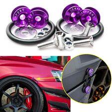 JDM Quick Release Fasteners For Car Bumper Trunk Fender Hatch Lids Chrome Purple