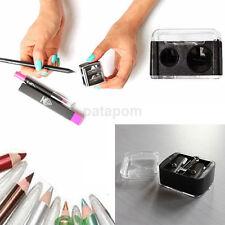 Hot Make-up Pencil Sharpener for Eyebrow Lip Liner Eyeliner Black 2 Holes US