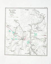 1857 Krasnoje Napoleon Russlandfeldzug Kupferstich-Plan