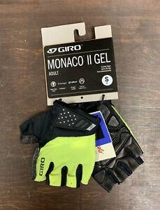 Giro Monaco II Gel Cycling Gloves Yellow Size Small New