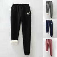 Women Warm Fleece Lined Winter Thermal Drawstring Casual Jogger Pants Sweatpants