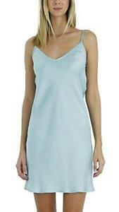 Women V Neck Camisole Full Slip Dress Nightgown