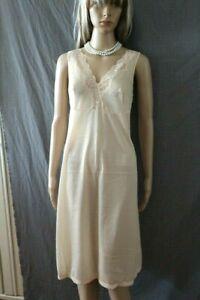 Vintage Unterkleid Unterrock Negligee Nachthemd Nachtwäsche ca. 46 Haut Neu!