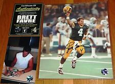 GREEN BAY PACKERS BRETT FAVRE AUTOGRAPHED 8x10 SB XXXI KID PHOTO FARVE HOLO COA