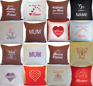 Mothers day gift Personalised embroidered Birthday Present special mum Cushion