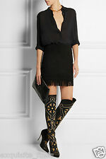 $5,950 NEW VERSACE EMBELLISHED SUEDE BOOTS  38 - 8 as seen on Heidi