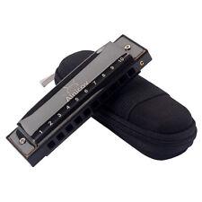 Major Diatonic Harmonica Mouth Organ Instrument Black ABS Resin CKey 10 Hole
