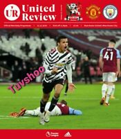 Manchester Man United v Manchester Man City PREMIER LEAGUE Programme 12/12/20