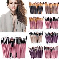 20 pcs/set Women Makeup Brush tools Make-up Toiletry Kit Wool Make Up Brush Set