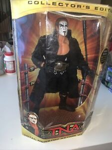 "Sting Figure TNA Collectors Edition 12"" NWA Belt Accessory NIB Rare Unopened HTF"