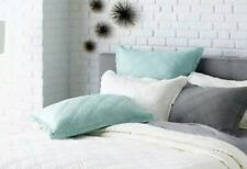 Threshold Ash Mint Linen Blend Quilted Pillow Sham ~ Euro ~ Quilted