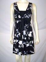 Speechless Black White Floral Sleeveless V-Neck Dress Womens Size XS 0 2