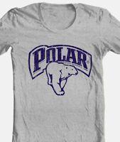 Polar Beer T-shirt retro vintage style distressed print grey graphic tee