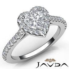 Heart Diamond Elegant Engagement GIA G VS2 Platinum Shared Prong Set Ring 1.23Ct