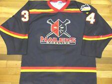Vintage Authentic Echl Ot Wheeling Nailers Hockey Jersey Size Xl fight strap