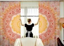 Indian Mandala Tulle Voile Door Window Curtain Drape Panel Sheer Scarf Valances