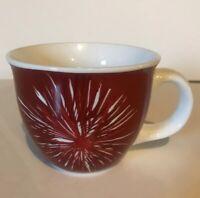 Starbucks Starburst  Fireworks  Red And White  14 FL oz Coffee Mug Cup 2014