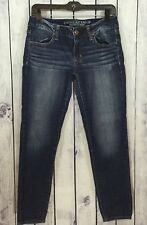 American Eagle AE Womens Super Stretch Distressed Jeans Tapered Size 6 J228