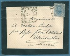 INTERESTING MOURNING  1895 COVER  FROM ITALY TO SWITZERLAND