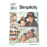 Simplicity Patterns 8268 Hats Mother & Daughter Sizes