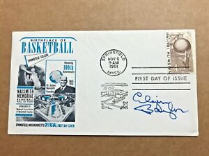 Elgin Baylor Signed 1961 Basketball HOF FDC First Day Cover LA Lakers D.2021