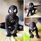 Boys Black Suit Spider-Man kids superhero Party cosplay costume Halloween
