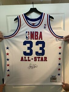 1990 All Star Game signed Larry Bird Jersey /33 UD COA