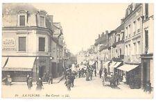 "CPA 72 - LA FLECHE (Sarthe) - 14. Rue Carnot - LL - Animée, ""A la Civette, Tabac"