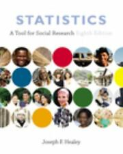 Statistics: A Tool for Social Research Healey, Joseph F. Hardcover Book Good