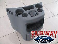 03 thru 17 Econoline Van OEM Ford Dog House Center Console Cup Holder Flint Grey