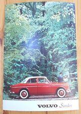 Volvo 122S Vintage Postcard Genuine Volvo New Unused Red Car 122 S Large