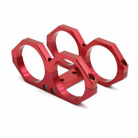 Universal Red 60mm Twin Fuel Pump Mounting Bracket Filter Clamp Cradle for Car
