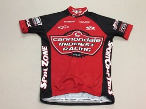 CANNONDALE MIDWEST RACING VOLER RED & BLACK RACE RAGLAN CYCLING MENS SMALL