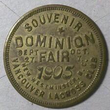 1905 DOMINION FAIR • Vancouver B. C. • Lacross Club - SCARCE