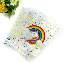 6pcs Unicorn Theme Party Gift Bag Plastic Candy Bags Loot Bag For Kids JHJH