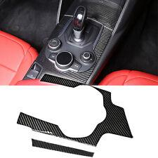 Interior Real Carbon Fiber Gear Shift Box Panel Trim Decal For Alfa Romeo Giulia