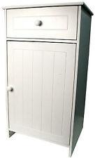 Meuble de salle de bain en bois blanc avec rangement tiroir baignoir unité