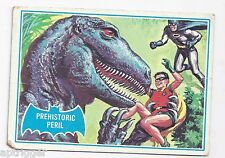 1966 Topps Batman Blue Bat with Bat Cowl Back (17B) Prehistoric Peril