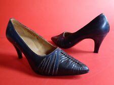Damenschuhe Pumps Schuhe Leder dunkelblau Gr.35 Nr.26