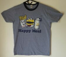 Men's T-Shirt,Happy Meal,Size M,Blue,Short Sleeve,Gaziani,Women